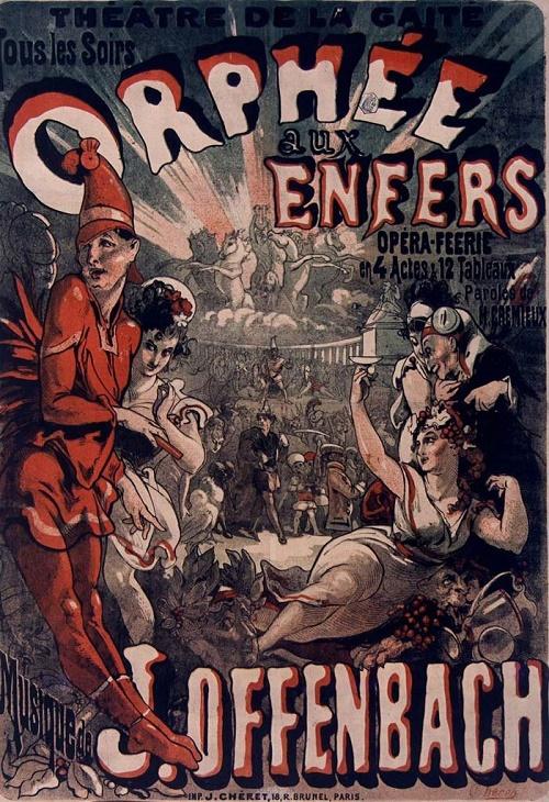 Orfeus v podsvětí, dobový plakát